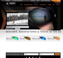 Ikon Lenses custom bigcommerce design