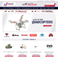 UJ Toys custom bigcommerce store design
