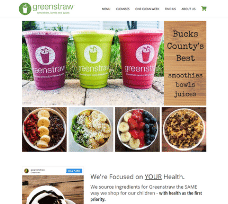 GreenStraw Smoothies on BigCommerce for WordPress