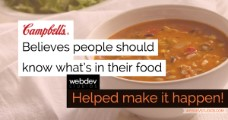 Campbell's Soup Company What's In My Food? Nutrition Label